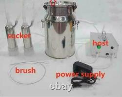 110V Electric Pulsating Vacuum Milking Machine 7L Cow Milker+70CM Tube Brush USA