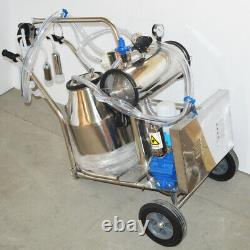 110V Milking Machine For Cows and Goats Vacuum Pump Electric Stainless Steel
