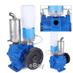 110V Vacuum Pump For Cow Milking Machine Milker Bucket Tank Barrel 250 L/min US