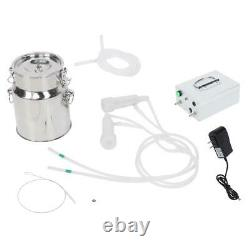 14L Charging Portable Household Electric Goat Cow Milking Machine Milker With US