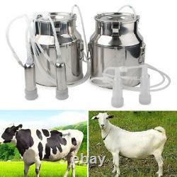 14L Double Head Milking Machine Vacuum Impulse Pump For Cow Milker EU Plug 220V