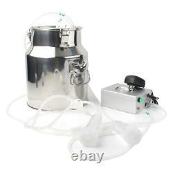 14L Double Head Milking Machine Vacuum Impulse Pump For Cow Milker US Plug 110V