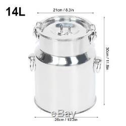 14L Electric Milking Machine Stainless Steel Vacuum Pump Milker for Farm Cows