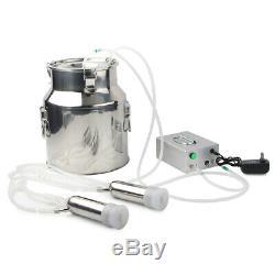 14L Electric Milking Machine Vacuum Impulse Pump Cow Milker Stainless US Plug
