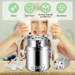 14L Electric Milking Machine Vacuum Impulse Pump Stainless Steel CowithGoat Milker