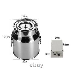14L Electric Milking Machine Vacuum Pump Stainless Steel Cow Dairy Cattl l