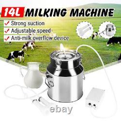 14L Electric Milking Machine Vacuum Pump Stainless Steel Cow / Goat Mi