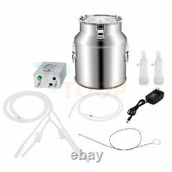 14L Milking Machine Portable Electric Dairy Cow Bucket Tank Stainless Steel