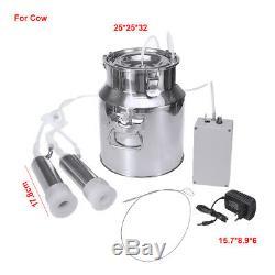 14L Plus Dual Head Farm Milking Machine Cow Goat Portable Barrels Vacuum