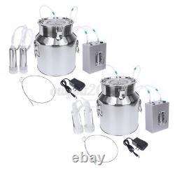 14L Portable Electric Milking Machine Vacuum Pump Milker For Farm Cow Sheep Goat