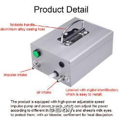 14L Upgraded Dual Heads Farm Milking Machine Vacuum Impulse Pump Cow Goat Milker