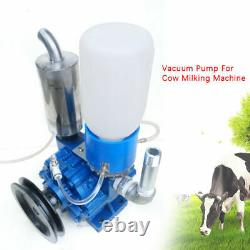 250 L/min Cow Milking Machine Vacuum Pump Bucket Tank Barrel withBelt pulley USA
