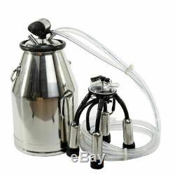 25L 304 Stainless Steel Milking Machine Bucket Milker Barrel Tank Cow Portable