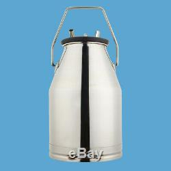 25L Cow Milker Milking Bucket 304 Stainless Steel Dairy Adjustable Tank Device