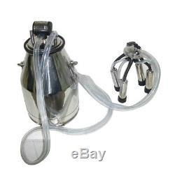 25L Cow Milker Tank Bucket Milking Machine 304 Stainless Steel Portable Easy Use