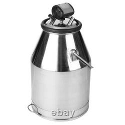 25L Dairy Cow Milker Stainless Steel Milking Machine Seal Bucket Tank Barrel New