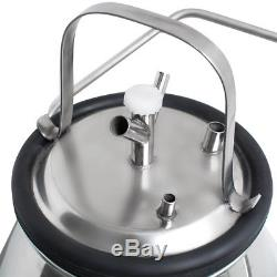 25L Electric Dairy Milking Machine Milker for Cows cattle Bucket + FREE Pulsator