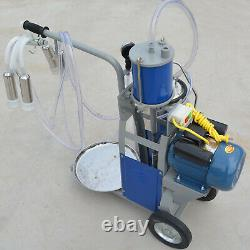 25L Electric Milking Machine Farm WithBucket Heavy Duty Cows Milker 10-12 Cows/H