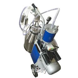 25L Electric Milking Machine For Cows WithBucket US Plug 12Cows/hour Milker