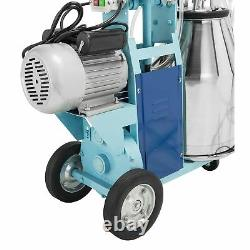25L Electric Milking Machine For Goats Cows Bucket 2 Plug 12Cows hour Milker