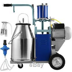 25L Electric Milking Machine For Goats Cows WithBucket 12Cows/hour Milker Cattle