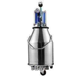 25L Electric Milking Machine For Goats Cows WithBucket Cattle Vacuum Pump