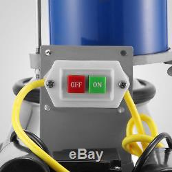 25L Electric Milking Machine For Goats Cows WithBucket Milker 2 Plug Automatic