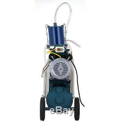25L Electric Milking Machine For Goats Cows WithBucket Sheep 12Cows/hour Piston