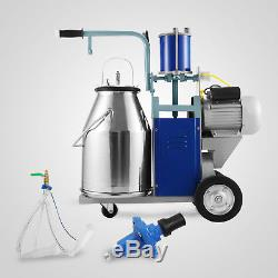 25L Electric Milking Machine For Goats Cows WithBucket Sheep 2 Plug 1440RPMVacuum
