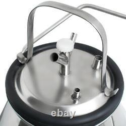 25L Electric Milking Machine Milker Farm Cows Vacuum Bucket Stainless Steel Pump