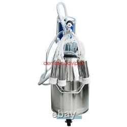 25L Electric Portable Milking Machine Vacuum Pump Milker for Farms Milking Cows