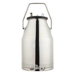 25L Milker Bucket Tank Milking Barrel with L80 Pneumatic Pulsator For Farm Cows