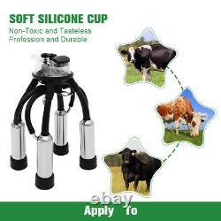 25L Milking Machine for Cow with Adjustable Speeds Electric Dual Heads Milker