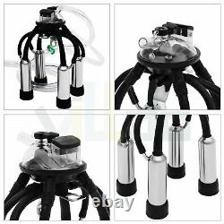 25L Milking Machine for Dairy Cow Portable Professional Pail Stainless Steel