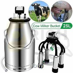 25L Portable Electric Milking Machine with Double Vacuum Pump For Cows Cattle