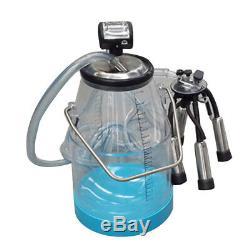25L Portable Transparent Milker Dairy Milking Machine Bucket Tank Barrel for Cow