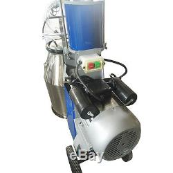 25LElectric Milking Machine Farm Cow 25L Bucket Vacuum Piston Pump Free ship AA