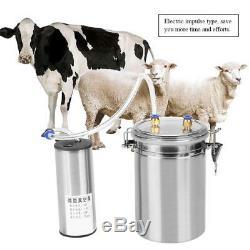 2L 0.5 Gal Electric Barrel Cows Farm Milker Milking Machine Vacuum Pump Bucket