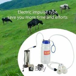 2L Electric Barrel Cows Portable Milking Machine Vacuum Pump Milker Tank Tool