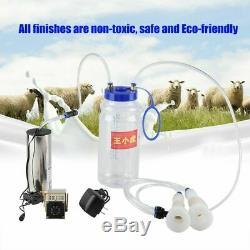 2L Electric Barrel Milking Machine Portable Vacuum Pump Cow Goat Milker
