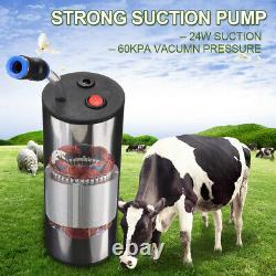 2L Electric Milking Machine Cow Goat Milker Stainless Steel Tank Upgraded L