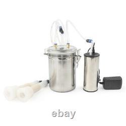 2L Electric Milking Machine Vacuum Pump Fit Farm Cow Sheep Goat EU Plug Portable