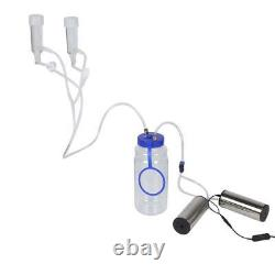 2L Goat Sheep Cow Milking Kit Portable Electric Milking Machine with 2 Pump