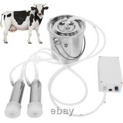3L Farm Cow Milking Milker Machine Bucket Tank Container Barrel US Plug HOT