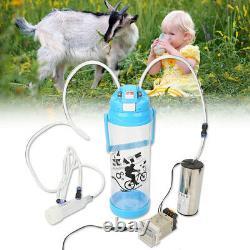 3L Goat Milker Electric Milking Machine Farm Sheep Cow Impulse Type Pump Bucket