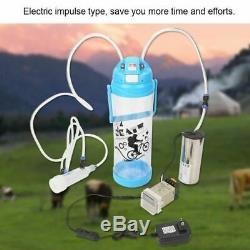3L Portable Electric Milking Machine Cow Sheep Goat Milk Impulse 110-240V US Plu