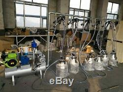 4mul8 Machinery 50 Tank Pail Milking Machine Milk 50 Cows at once By Air