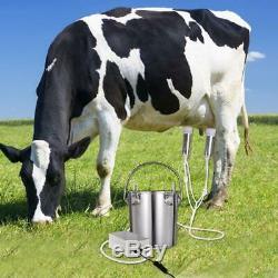 5.5L Cow Electric Milking Machine Stainles Steel Breast Vacuum Pump Suction Milk