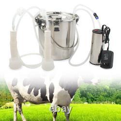 5L 24W Portable Electric Milking Machine Vacuum Impulse Pump For Cow Goat Milker