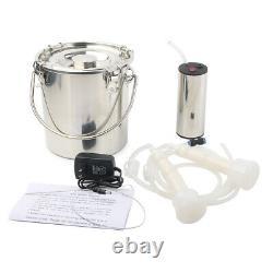 5L 24W Portable Vacuum Impulse Pump Electric Milking Machine For Cow Goat Milker
